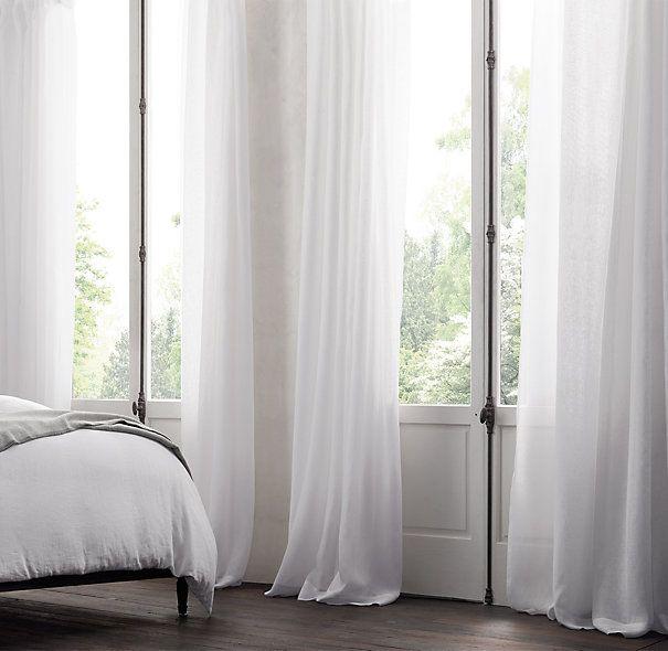 Sheer White Linen Curtains BestCurtains