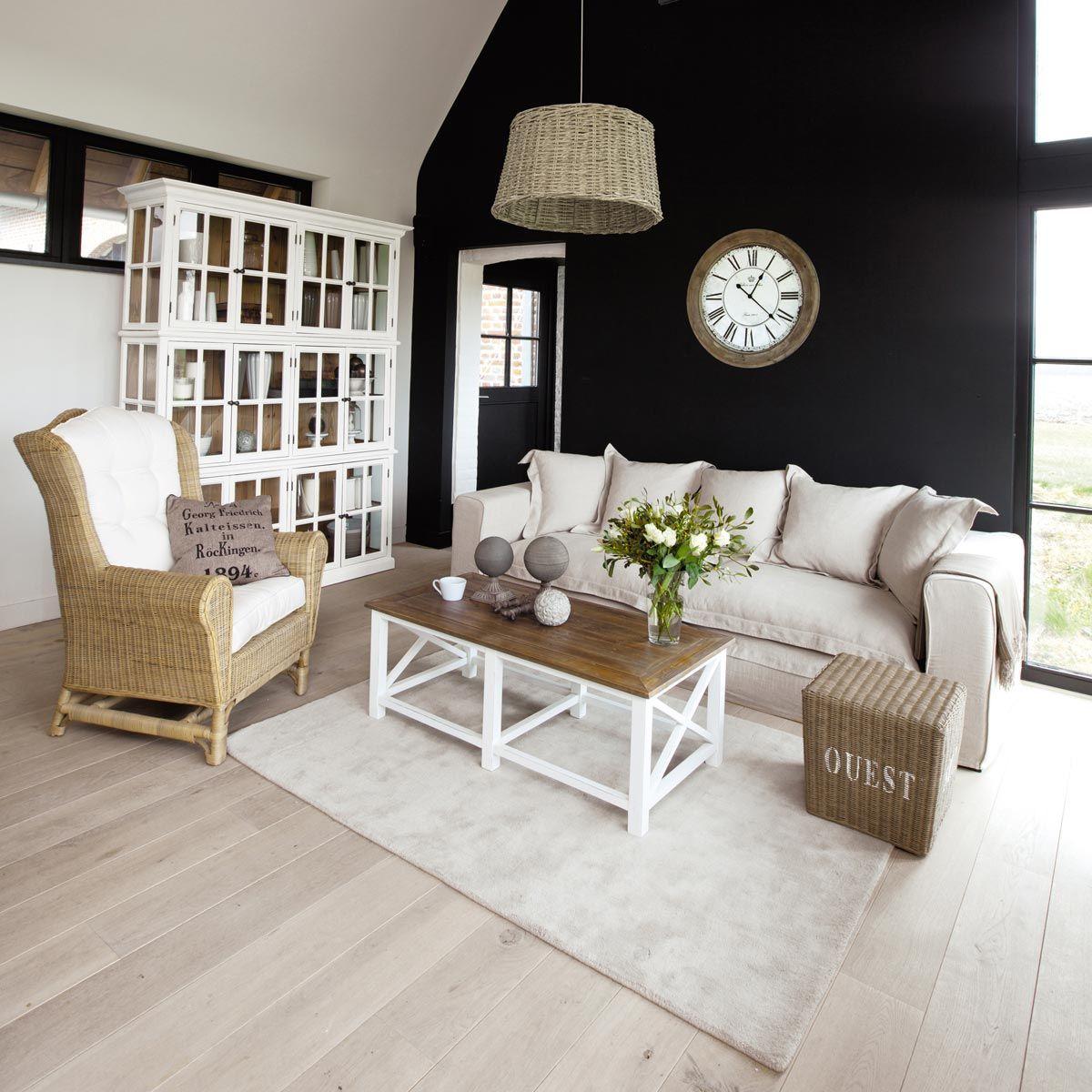 Table basse bois maison du monde perfect la maison du for Miroir klara