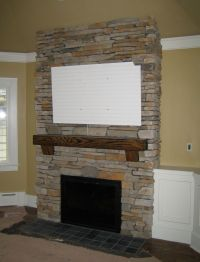 brick fireplace pictures | ... veneers and space for a ...