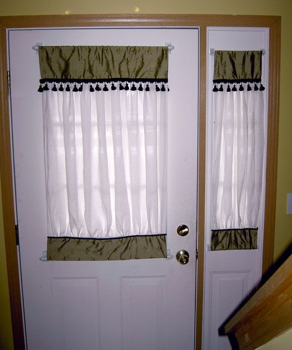 I Need To Make Curtains For My Front Door And I Think I Can Make