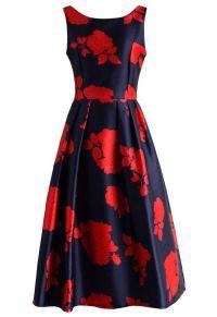 Rose Impression Prom Dress in Navy - Dress - Retro, Indie ...