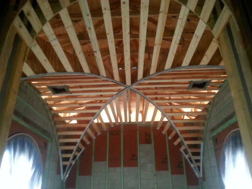 Groin ceiling framing for Groin vault pictures
