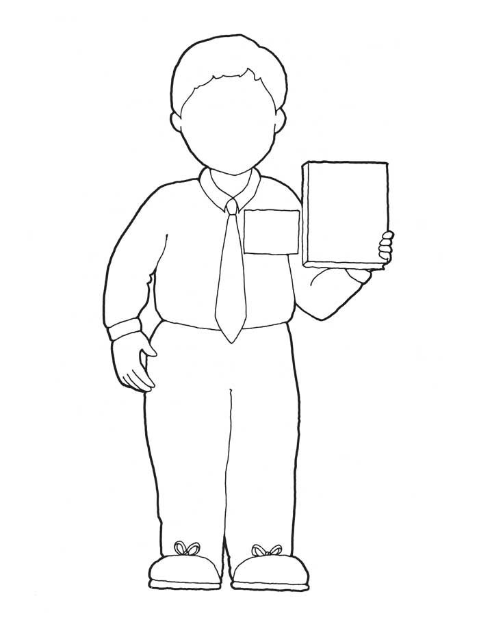 I want to be a missionary now coloring page (sister