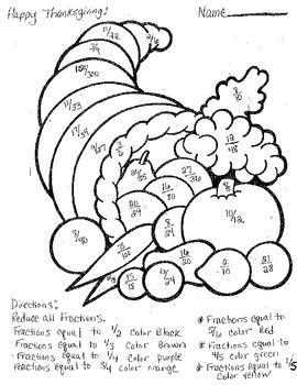 Image result for fraction coloring worksheets 5th grade