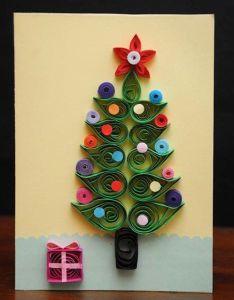 Quilling christmas card via etsy also arvores de natal pinterest rh
