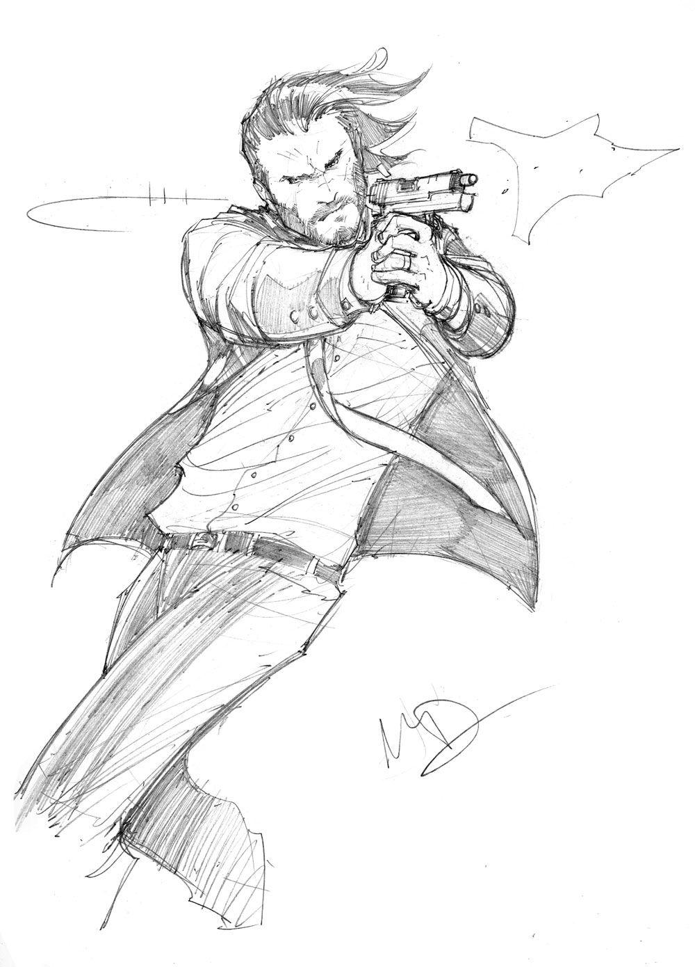 John Wick sketch by Max-Dunbar.deviantart.com on