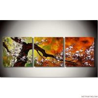 Abstract Paintings 3pcs Canvas Set Modern Acrylic on ...
