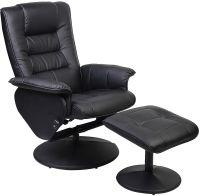 Duncan Reclining Chair w/Ottoman - Black | Living room ...