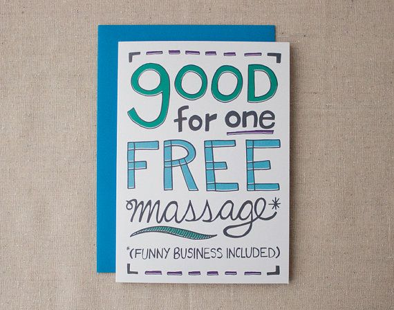 Free Massage Card Anniversary Birthday Or Just Because