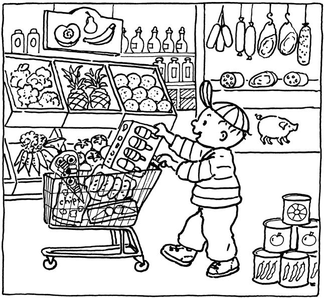 Kleurplaten uit kinderboeken, bilder zum ausmahlen aus