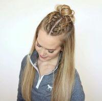 Half up half down braids | |Hair| | Pinterest | Hair style