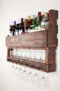 Wine rack wine rack from wood wine rack for wall by ...