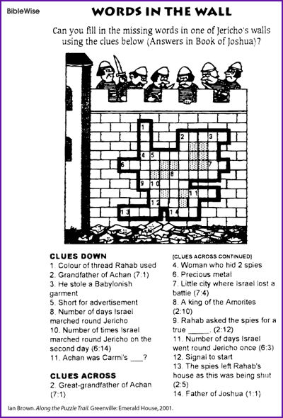 Crossword, Words in the Wall (Jericho)