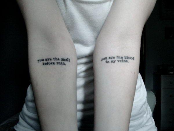typewriter font tattoo
