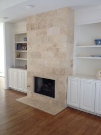 Travertine Fireplace ! | Tile & Stone | Pinterest ...