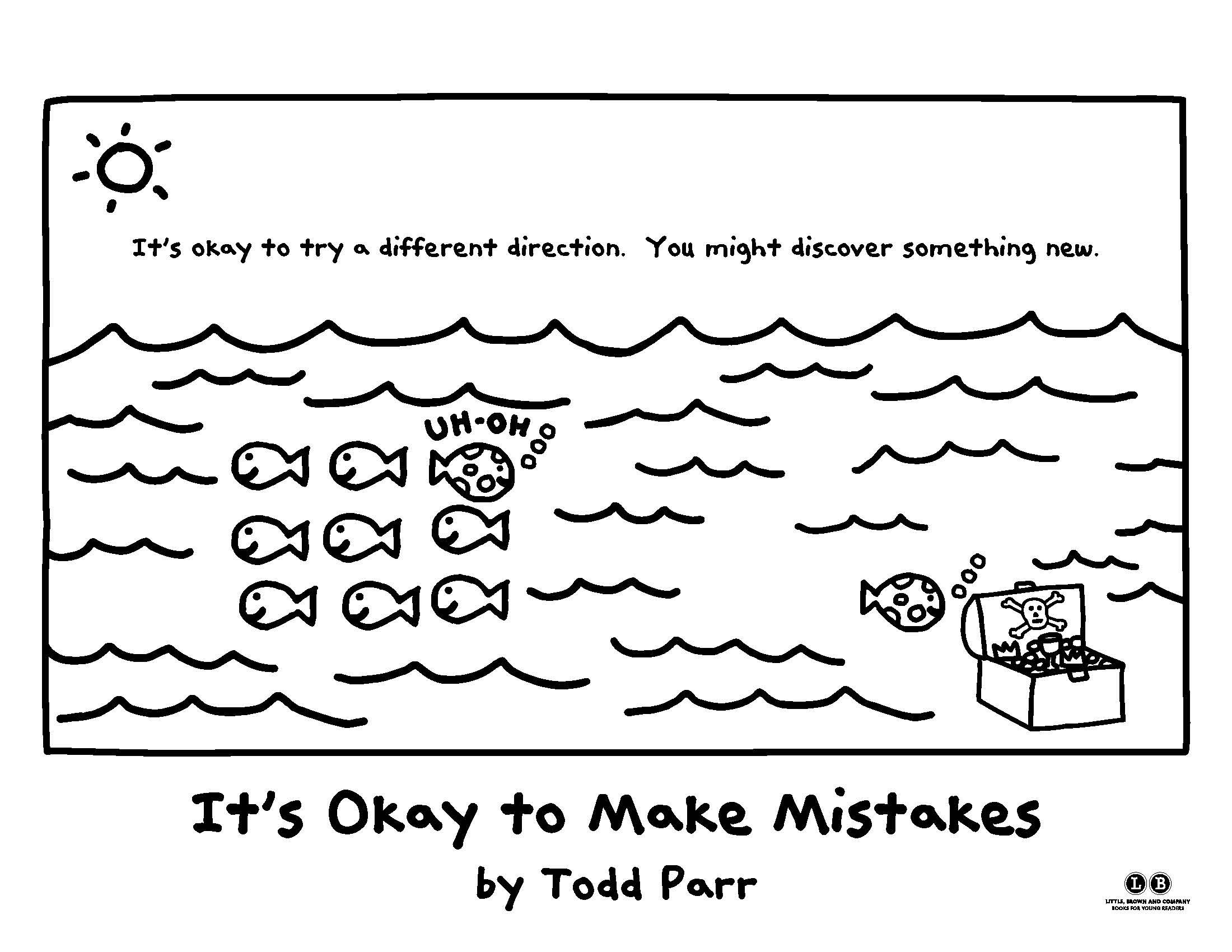 Color in your own direction! [It's Okay to Make Mistakes