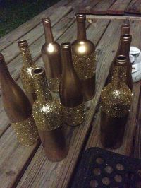 Metallic gold spray paint and I waited about a week to do ...