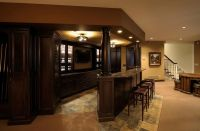 35 Best Home Bar Design Ideas | Dark wood cabinets, Dark ...