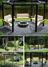 Outdoor fire pit and pergola idea | Exteriors & Outdoor ...