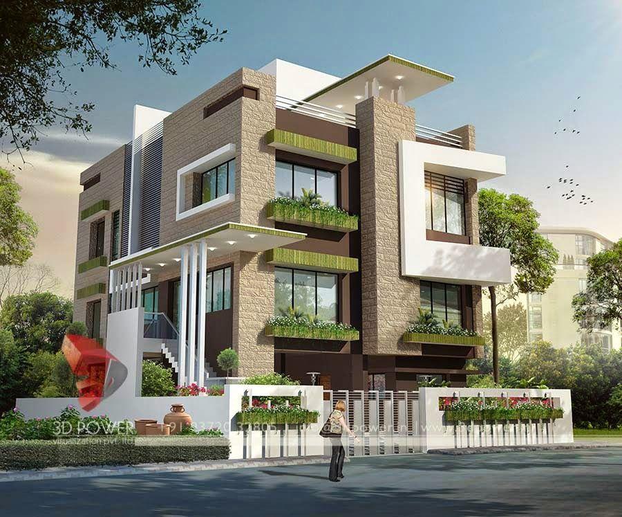 3d Modern Exterior House Designs 5 Design A House Pinterest