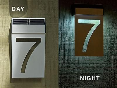 Lighted House Number Plaque Pinteres