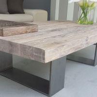 Extraordinary Grey Wash Wood Coffee Table Pleasing | Home ...