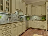 Amazing Refinished Green Kitchen Cabinets To White Painted ...