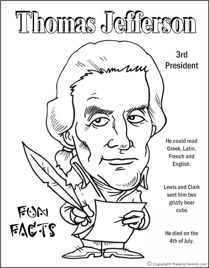 Perfect Thomas Jefferson Coloring Page Model Coloring Page Ideas