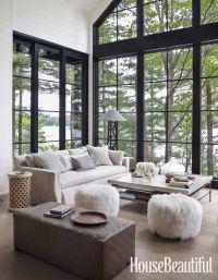 Interior designer Anne Hepfers modern rustic summer lake ...