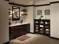 Bathroom, Dark Brown Bathroom Sink Cabinets With White ...