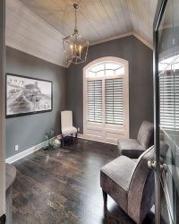 Shiplap Ceiling, White Shiplap, Vaulted Study | Model ...