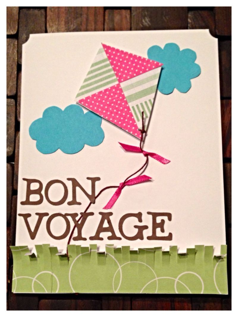 Bon voyage kite going away card crafts byashley