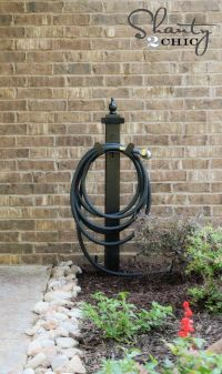 Hose Holder for the Garden DIY | Garden hose holder, Hose ...