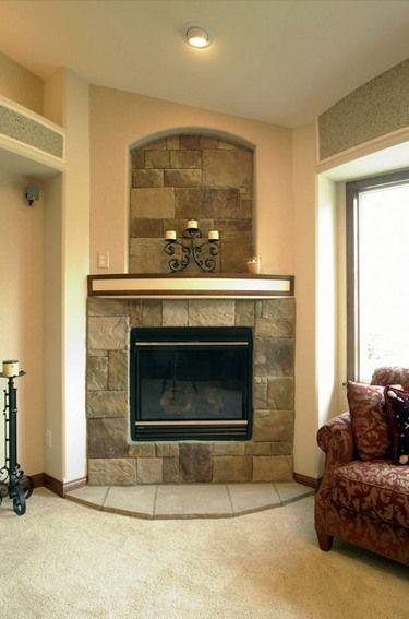 Stone Tile Fireplace Stone Corner Fireplace Design Ideas