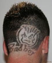 crazy haircut design fade