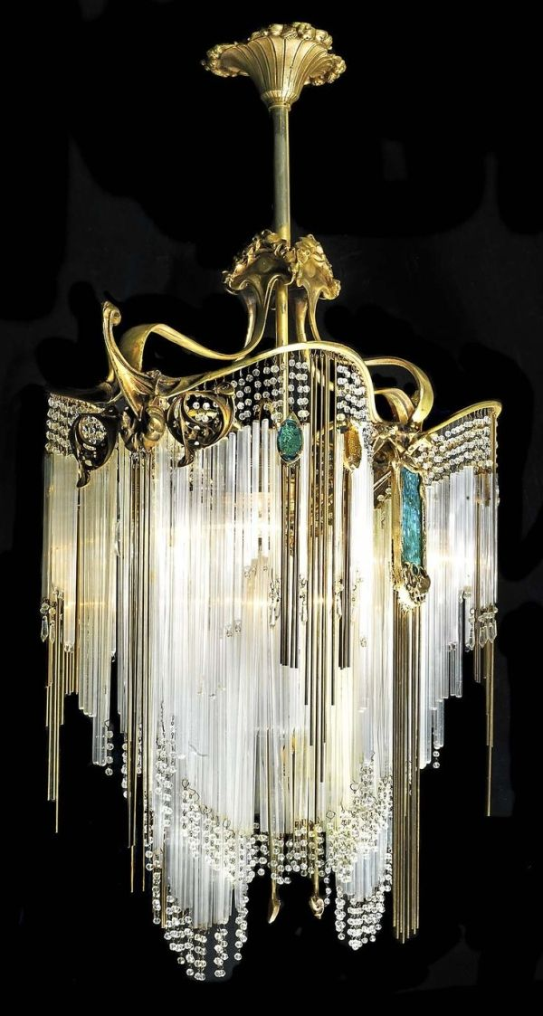 Fcbtc Art Nouveau Hanging Chandeliers By French Architect Designer Hector Guimard 1867