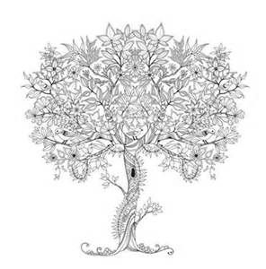 Tree Coloring Page Adult Coloring Club secret garden adult