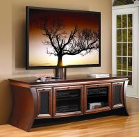 Wood Flat Screen curved TV Stands | Photo of Entertainment ...