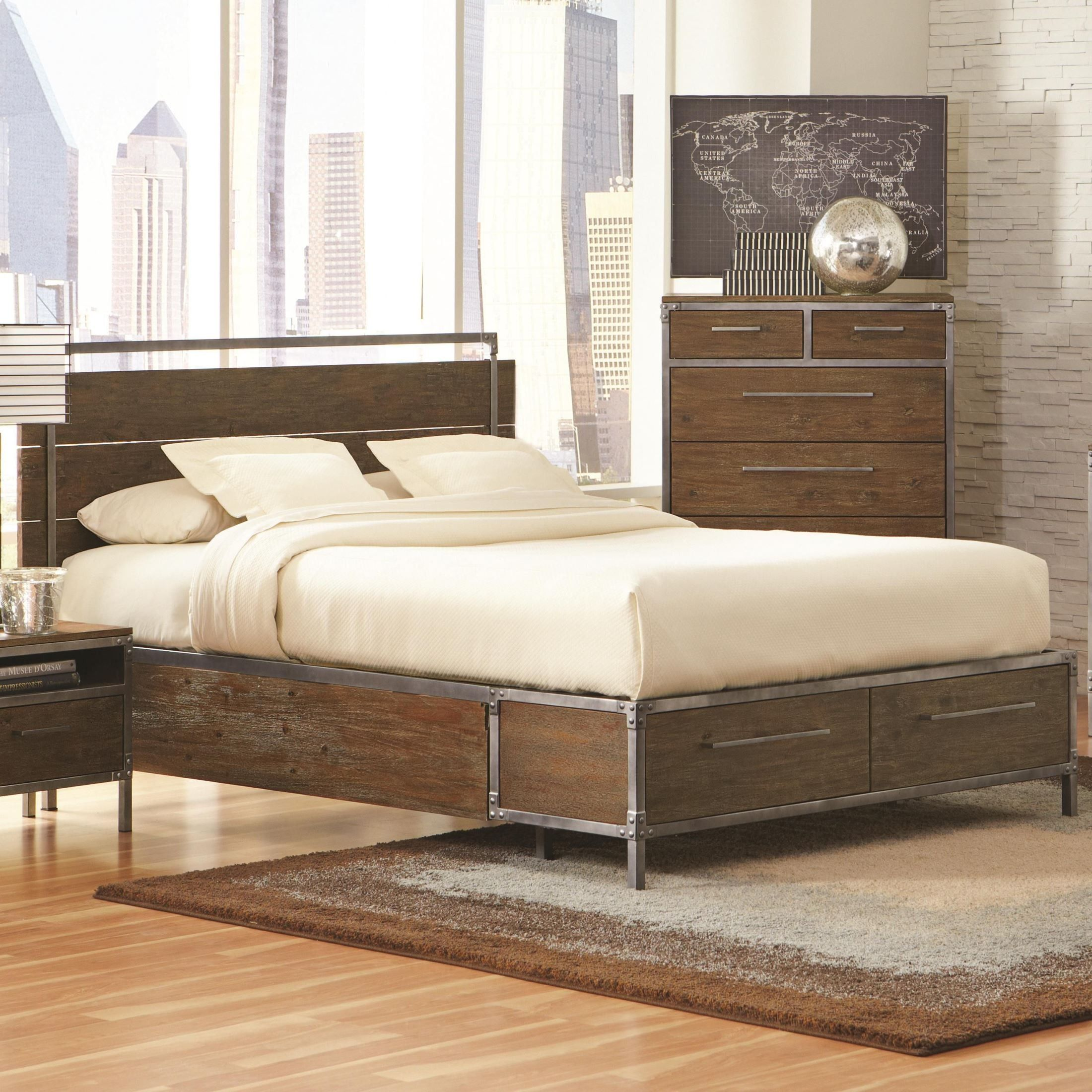 chair king sugar land how to make covers this edgy industrial bed will be a great focal point for