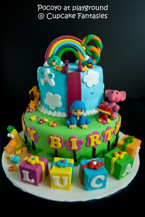Playground Pocoyo Birthday Cakes