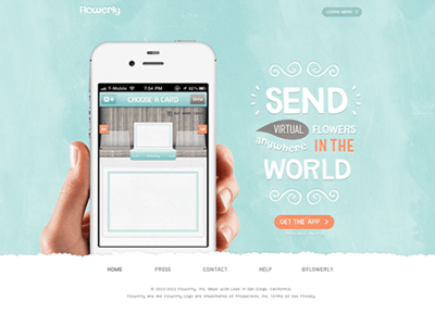 Ios iphone app homepage design for flowerly also and rh pinterest