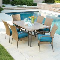 Hampton Bay Corranade 7-Piece Wicker Outdoor Dining Set ...