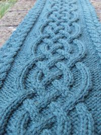 Celtic Cable Scarf By Vanessa Lewis