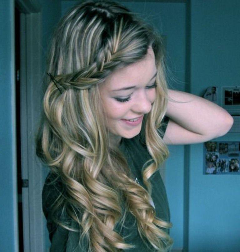 Cute Easy Hairstyles For Curly Hair Hair Tutorials Style Ideas