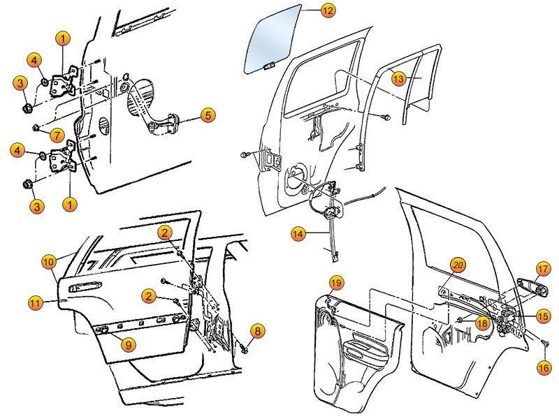 Jeep Liberty Rear Door Replacement Parts|02-07 KJ| Morris