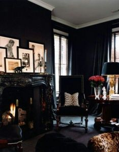 Trend spotting dark walls in home decor interior design art accessories and decoration how to mix style your own also inspiration room love all black at fabulous pinterest rh