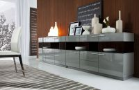 Daytona Modern Grey Gloss Buffet | Buffet, Dining room ...