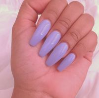 Neon Lavender Coffin Acrylic Nails | The love of Nails ...
