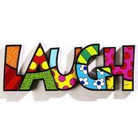 Romero Britto - Laugh - Word Art - 331488 | LOOKIN FOR A ...