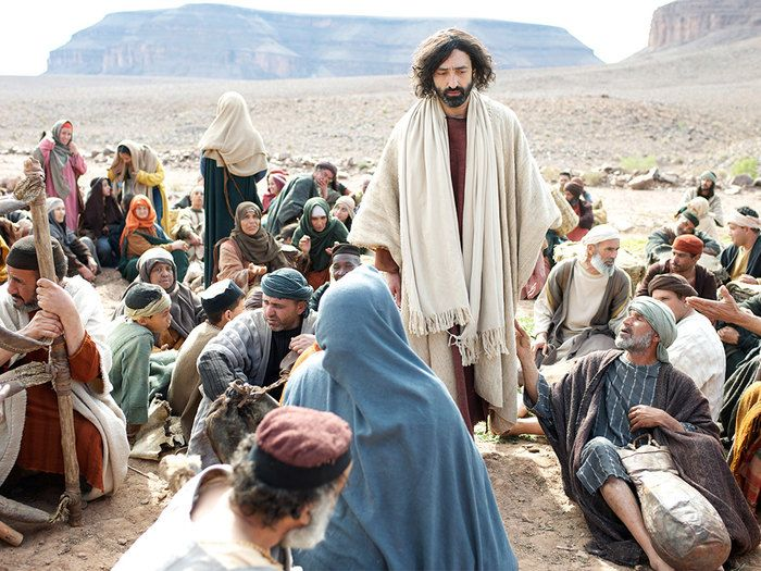 Jesus feeds 5000 men plus women and children with 5 loaves